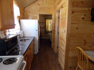 Separate living areas make Cade Luck Ranch Cabins feel like your home away from home.